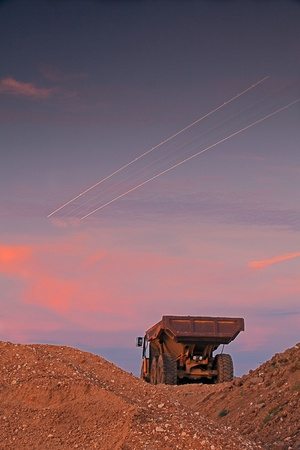 sand quarry: Picture of a large truck