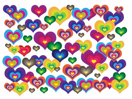 coeur: Different colorful hearts