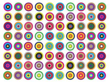 Colorido mosaico en baño Ilustración de vector