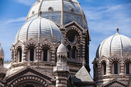 Detail of famous cathedral in Marseille