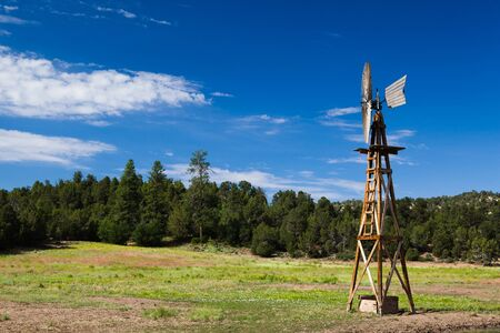 Old Farm Windmill for Pumping Water in Arizona in USA photo