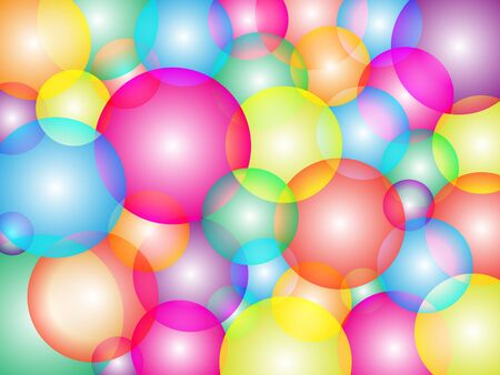 Pattern from colorful bubbles photo