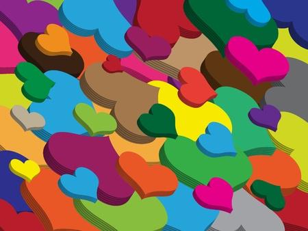 Valentine hearts, love symbol photo
