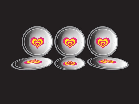 The hearts in the buttons photo