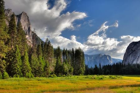 The sunset in Yosemite National Park, California photo