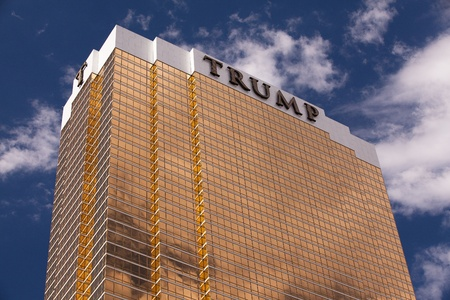 Las Vegas, Nevada, USA - Trump luxury resort in Las Vegas. The Trump Hotel Las Vegas is a 64 story luxury hotel-condominium located on Fashion Show Drive near Las Vegas Boulevard in Las Vegas, Nevada.