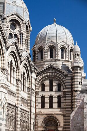 Detail of Marseille cathedral in France  photo