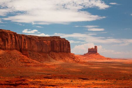 Peaks of rock formations in the Navajo Park of Monument Valley Utah  photo