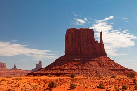 Peaks of rock formations in the Navajo Park of Monument Valley Utah