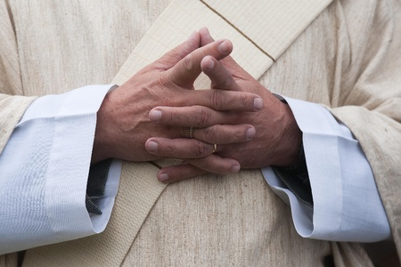The catholic priest Stock Photo - 11174069