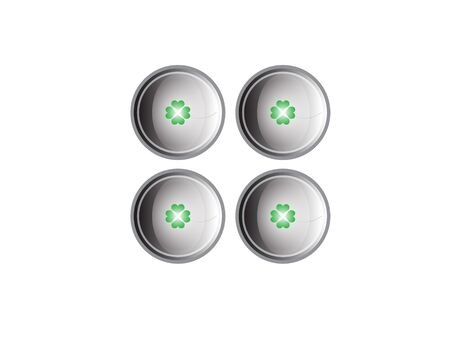 The buttons with green clovers photo