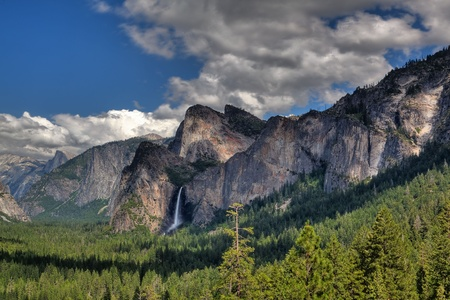 The famous waterfall in Yosemite National Park, California photo