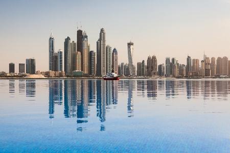 Obchodní čtvrti Dubaje