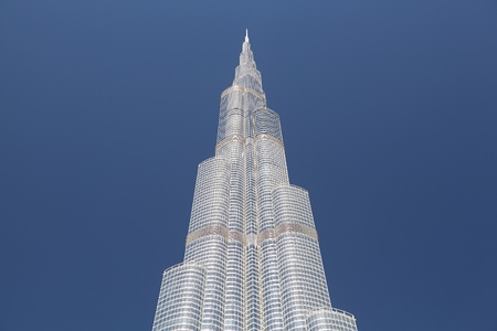 DUBAI - JANUARY 12: A general view of Burj Khalifa (Burj Dubai) January 12, 2010 in Dubai, UAE. The world's tallest tower was officiated on January 4, 2010.  Stock Photo - 12412401