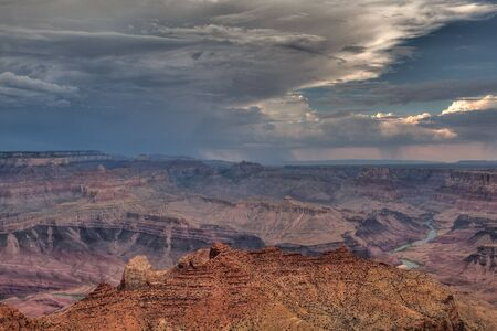 Grand Canyon before storm photo