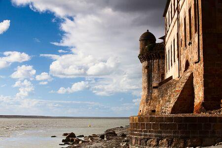 mont saint michel: Detail of Mont Saint Michel in France