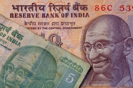 moola: Banknotes - Rupees bill of India Stock Photo