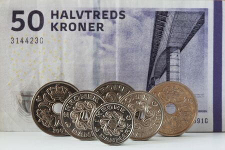 The different Danish currency Stock Photo - 13190010