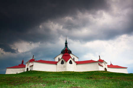 The pilgrimage church zelena hora - green hill - Monument  photo