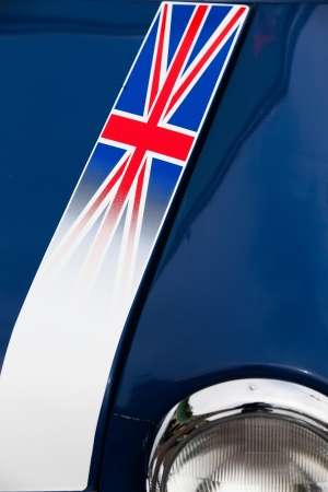 Detail of Classic Car Mini Cooper from Mini Run Show in Brighton 2012 - Great Britain