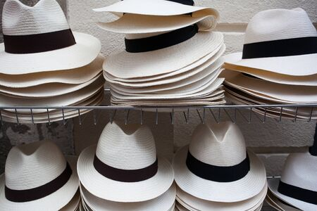 White hats in the street market