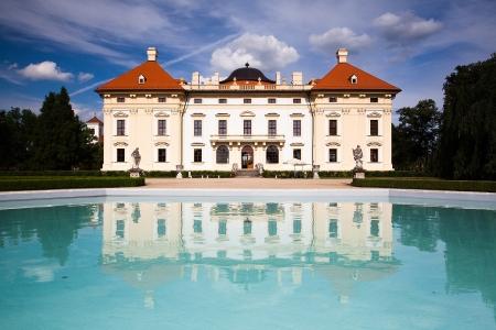 czech culture: Castle in Slavkov - Austerlitz near Brno, Czech Republic  Editorial