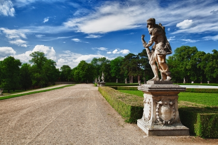 austerlitz: Garden in the Castle in Slavkov - Austerlitz near Brno, Czech Republic