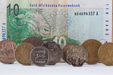 Banknotes and coins - Rands bill of South Africa photo