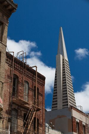 Detail of Transamerica building in San Francisco