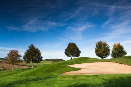 The golf course in Czech Republic Stock Photo