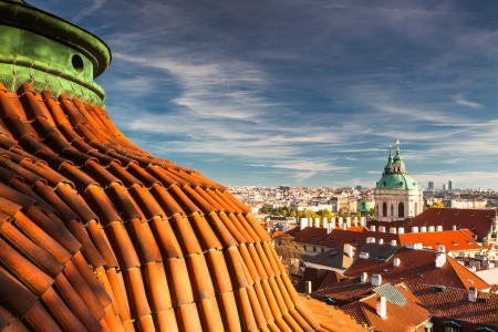 View from Prague Castle on the autumn Prague photo