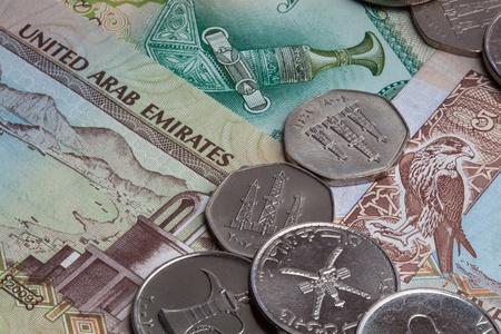 ajman: United Arab Emirates coins and banknotes  The UAE is made up of seven states  Abu Dhabi, Dubai, Sharjah, Ajman, Umm al-Quwain, Ras al-Khaimah and Fujairah