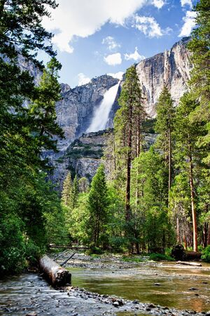 Vernal Falls, Mist Trail, Yosemite National Park, California, USA photo