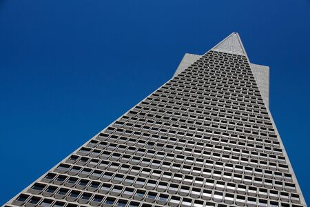 Detail of Transamerica bank building in San Francisco