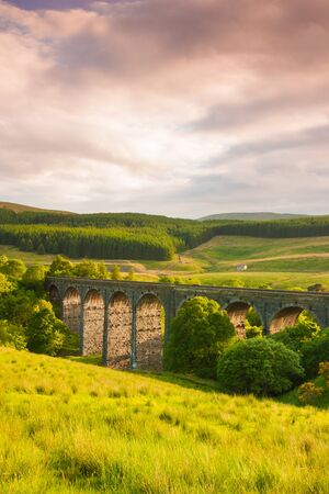 Yorkshire Dales: Dent Head Viaduct In Great Britain