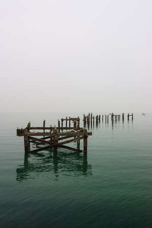 Old jetty in Swanage in Great Britain Stock Photo - 19483776
