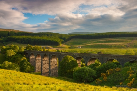 Famous Dent Head Viaduct in Yorkshire Dales National Park In Great Britain photo