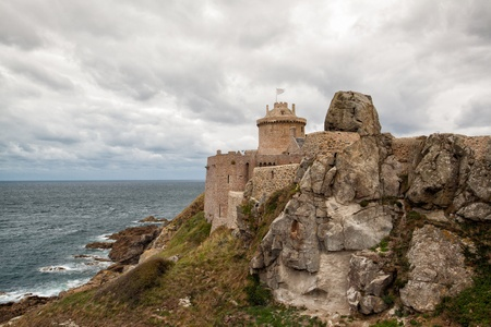 Fort La Latte-an impressive fortress from the 13th century dominating the ocean  photo
