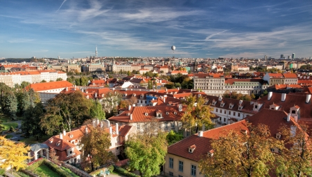 View from Prague Castle on the autumn Prague Stock Photo - 20400415