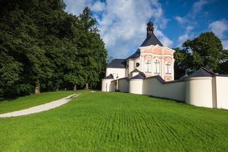 abbeys: Renovated pilgrimage church in Jaromerice u Jevicka