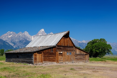 The iconic Moulton barn on Mormon Row in Grand Teton National Park, Wyoming