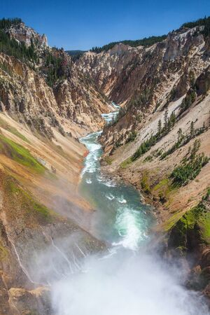 The Lower Falls on the Yellowstone River   Yellowstone National Park, Wyoming  photo