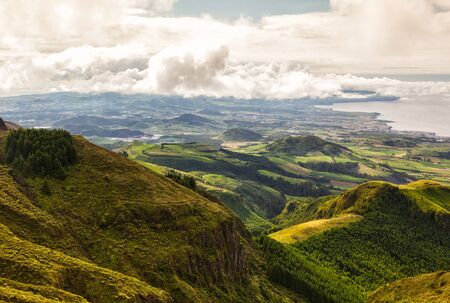 agriculture azores: Landscape on Sao Miguel on Azores islands
