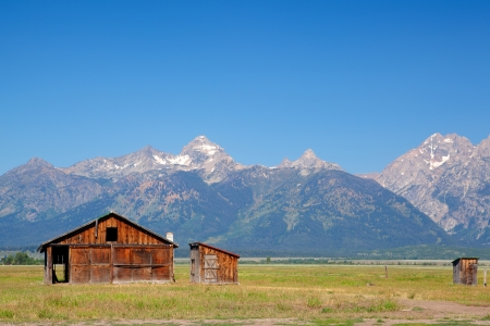 The iconic John Moulton homestead in Grand Teton in Wyoming in USA photo