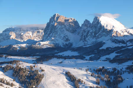 Winter landscape in the Dolomites