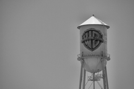 burbank: Historic Warner Bros water tower on the studio in Burbank