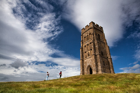 Glastonbury Tor located on a windy hill in Somerset On July 15,2010,England