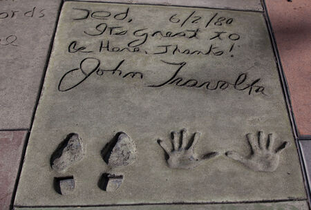 John Travolta autograph Stock Photo - 26315144