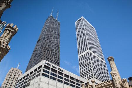 magnificent mile: John Hancock Center on June 7, 2013 in Chicago Chicago