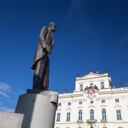 archbishop: Monument of Tomas Garrique Masaryk and Archbishop Editorial